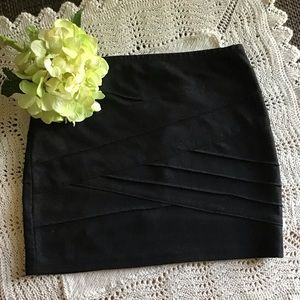 Black Textured Skirt